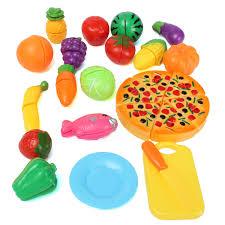 Toy Kitchen Set Food Kids Baby 19pcs A Set Funny Mini Simulation Kitchen Food Play