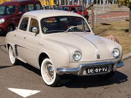 1960 renault dauphine renault dauphine black and white old but bright