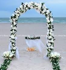 flower arch 7 5 ft white metal arch for wedding party bridal prom garden