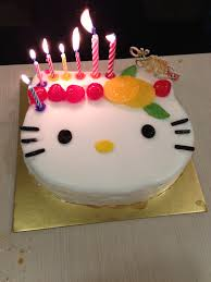 hello kitty birthday cake candle sweets photos blog