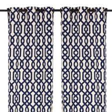 Navy Patterned Curtains Free Us Shipping Pair Of Decorative Designer Custom Curtains