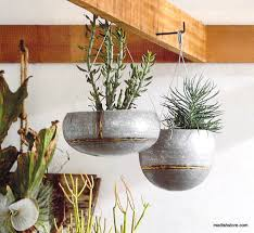 hanging planters roost braza tall wide hanging planters maplenest