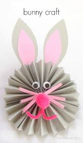 how to make a paper fan paper fan bunny craft housing a forest