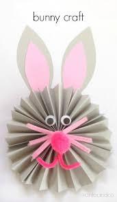paper fan paper fan bunny craft housing a forest