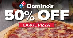 jobs at domino s pizza 50 off online order enjoy 50 off large pizzas at domino s pizza from now till 2 aug