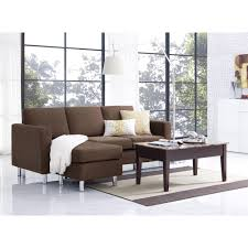 Sectional Sofa For Small Spaces by Dorel Living Small Spaces Configurable Sectional Sofa Brown