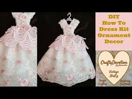 diy kit pink embroidred dress ornament tutorial shabby chic