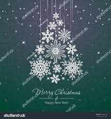 white snowflake christmas tree on green stock vector 342287408