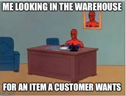 Warehouse Meme - spiderman computer desk meme imgflip