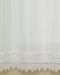 Lace Trim Curtains Heritage Lace Chelsea Pattern 48 X 30 Tier Curtain With Macramé