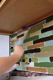 Do It Yourself Kitchen Backsplash Affordable Diy Backsplash Mosaic Tile Paint Project