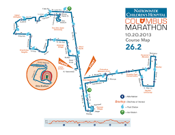 Columbus Ohio Crime Map by Columbus Marathon October 20th 2013 U2013 Course Map Harrison West