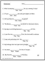 homonyms homophone worksheets