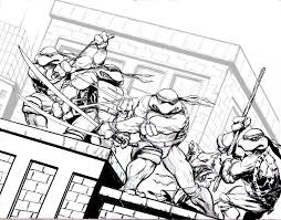 teenage mutant ninja turtles for kids coloring page free download