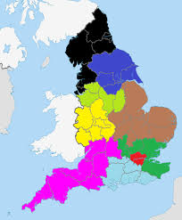 A Map Of England by Federalised England Feduk