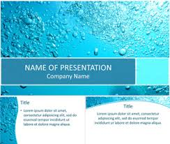 Water Powerpoint Templates by Water Bubbles Powerpoint Template Templateswise