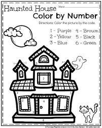 october kindergarten worksheets kindergarten worksheets haunted