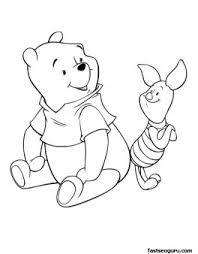 coloring pages disney characters winnie pooh piglet