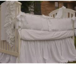 White Crib Bedding White Baby Bedding Set 100 Linen Handcrafted By Superior