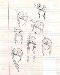 anime hairstyles drawings long short 18978station jpg hair