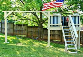 Swings For Backyard Diy Swing Set 5 Ways To Make Your Own Bob Vila