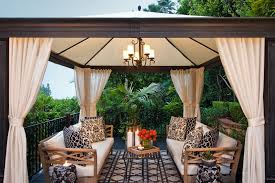 gazebo curtains solar shade patio transitional with white