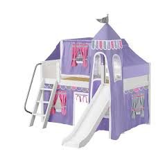 maxtrix kids wow loft bed with slide tent and curtains u0026 reviews