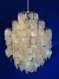 pearl chandelier vintage 1 dm of pearl chandelier by verner panton for