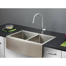 Double Sinks Kitchen by Ruvati Rvh9201 Apron Front 16 Gauge 33 U2033 Kitchen Sink Double Bowl