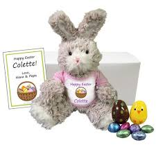 stuffed bunnies for easter personalized easter bunnies easter party invitations and gifts