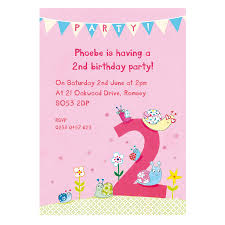Birthday Cards Invitations Personalised Second Birthday Party Invitations By Made By Ellis