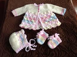 crochet baby sweater pattern bavarian crochet baby sweater set