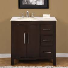 Bathroom  Inch Vanity Combo Lowes Teagan With Left Drawer - 48 inch white bathroom vanity lowes