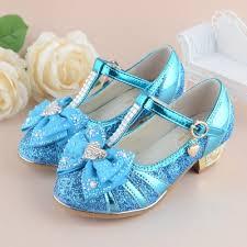2016 children princess sandals kids girls wedding shoes high heels