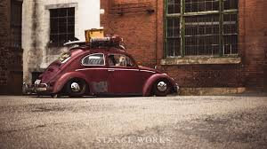 volkswagen beetle modified brent favreau u0027s 1961 red over red ragtop volkswagen beetle