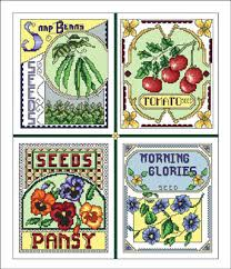 seed packets vickery collection seed packets cross stitch pattern 123stitch