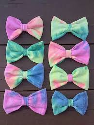 handmade bows i made these bows out of an shirt t shirt bows tye dye bows