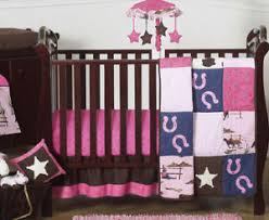 Brown And Pink Crib Bedding Pink Brown Western Themed Bumperless Baby