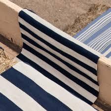 Navy Outdoor Rug Trimaran Stripe Indoor Outdoor Rug In Navy Blue And Nursery