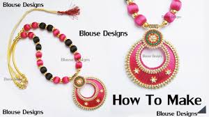 necklace designs making images How to make silk thread necklace bridal necklace making with silk jpg