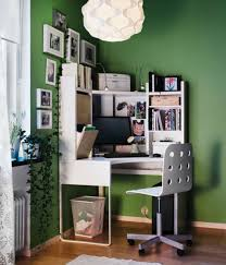Decorating Small Home Office Small Home Office With Corner Desk And Framed Pictures In The