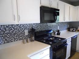 kitchen porcelain tile black and white patterned irregular gloss