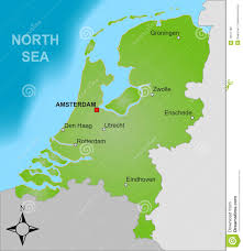 Map Netherlands Map Of The Netherlands Stock Vector Image Of Mapping 12671166