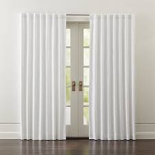 Black And White Draperies Wallace White Blackout Curtains Crate And Barrel