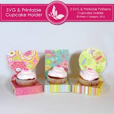 cup cake holder svg printable cupcake holder shery k designs