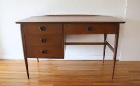 mid century modern desk by bassett picked vintage