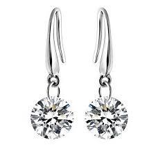 danglers earings swarovski element drill 8mm earrings jewelry
