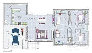 plan maison 4 chambres plain pied gratuit une maison originale de plain pied dé du plan de une maison
