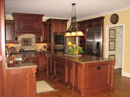 kitchen stunning dark cherry kitchen cabinets wall color colors