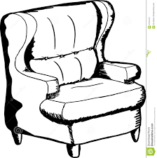 outlined sofa chair stock illustration image 57919747